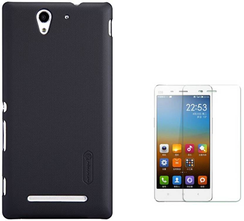 quality design 7dfef d2f8d Nillkin Back Case for Sony Xperia C3 and Tempered Glass Accessory ...