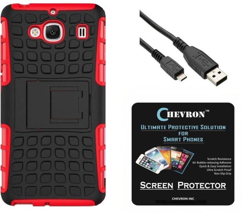 new style fee04 c5209 Chevron Hybrid Armor Kick Stand Back Cover for Mi Redmi 2 Prime with ...