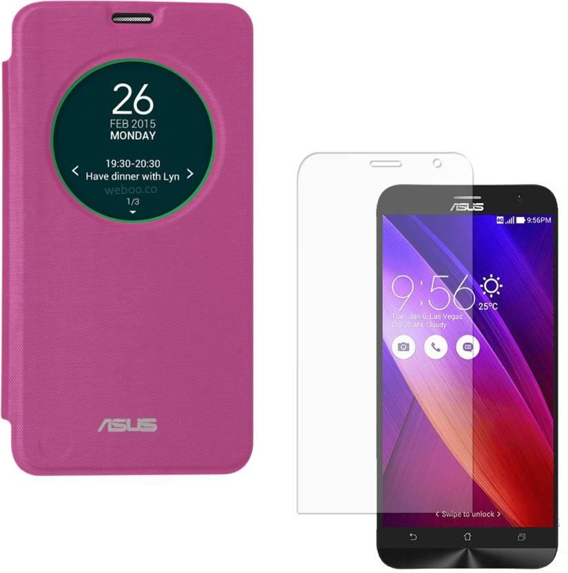 online retailer ff584 7d0d5 DMG Smart Circle View Flip Case for Asus Zenfone 2 ZE551ML , Matte ...