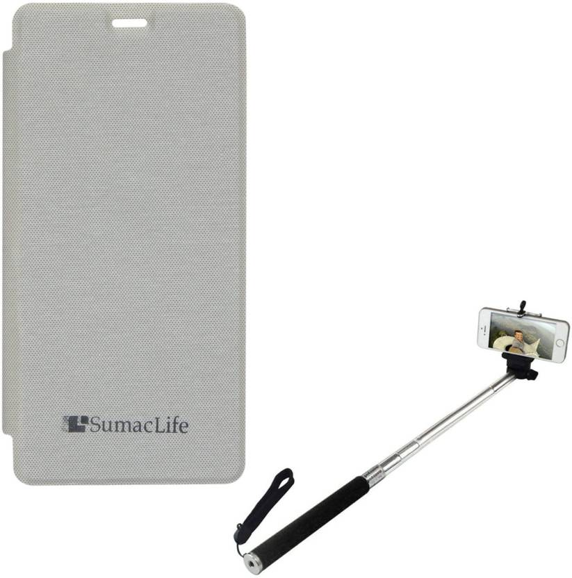best cheap 27f2a b9fb1 SumacLife PU Leather Flip Cover Case for Gionee M2 , Selfie Stand ...