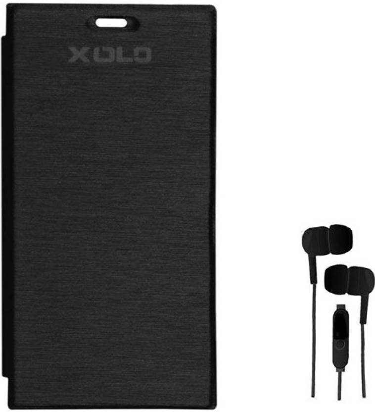 the best attitude 87aa6 94d92 Chevron Flip Cover with 3.5mm Stereo Earphones for Xolo Q600S ...