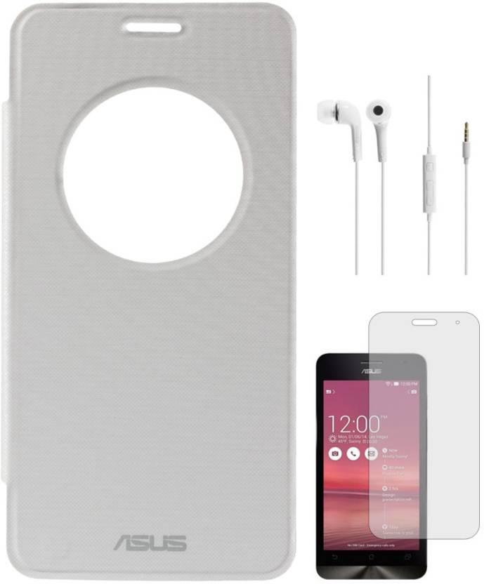 online retailer a9c7e 9f3e8 DMG Circle View Flip Cover for Asus Zenfone 5 A501CG, White ...
