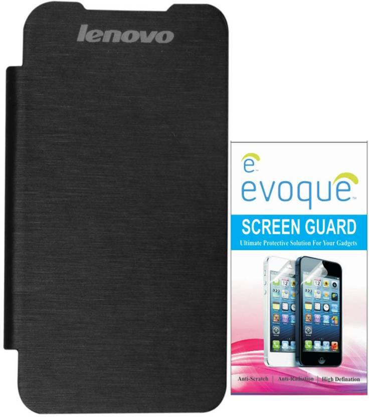 detailed look 70b31 44e5f Evoque Flip Cover For Lenovo S850 + Screen Guard Accessory Combo ...