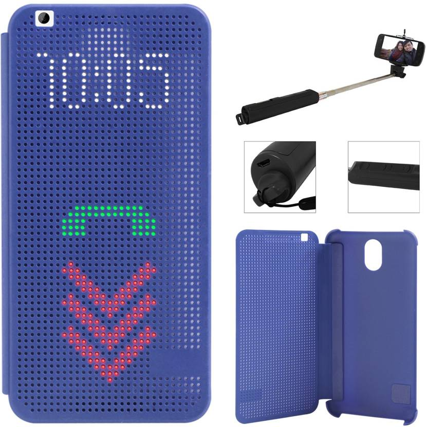 new style 05a88 63b7c DMG Dot View Interactive Flip Cover Case for HTC Desire 620G ...