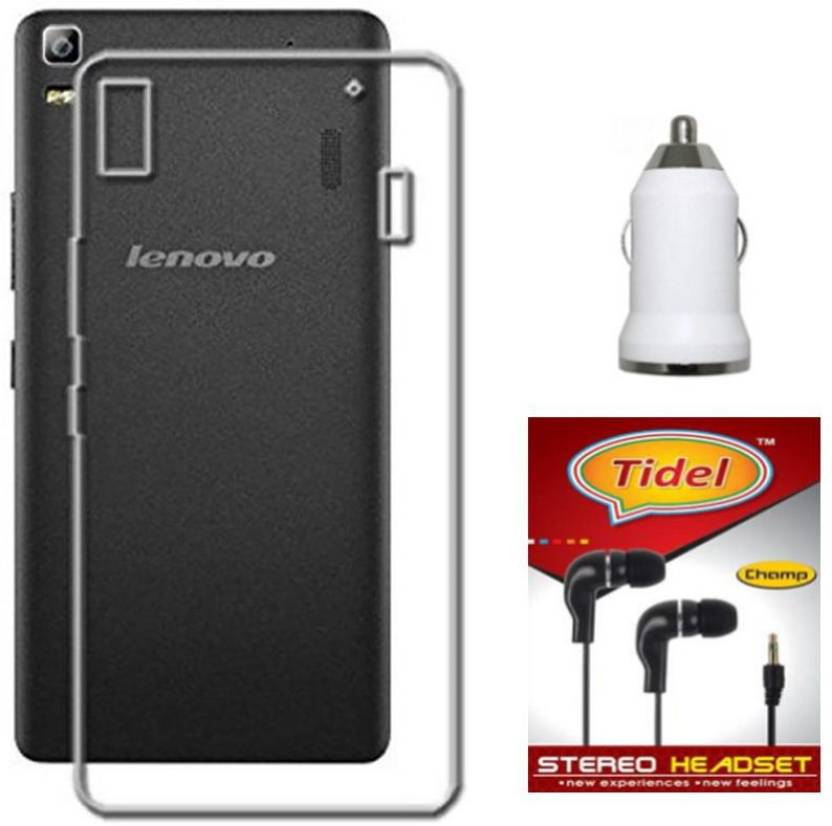 huge discount 16c4b 665bb Tidel Silicon Soft Back Cover For Lenovo K3 Note With 3.5mm ...