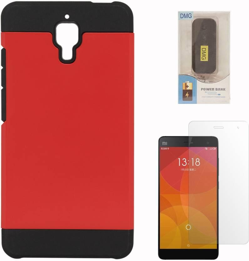 premium selection ec31f 4abe6 DMG Back Cover Case for Xiaomi Mi4 (Red) + 6000 mAh PowerBank + ...