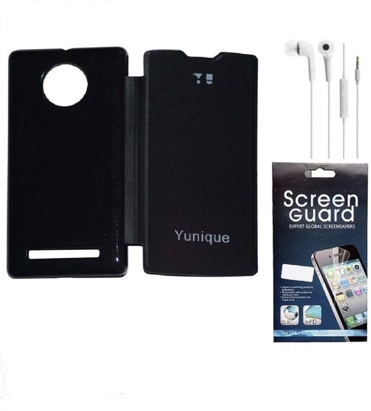 separation shoes 9e898 9276d RDcase Flip Cover + Screen Protector + Hands Free for Micromax YU ...