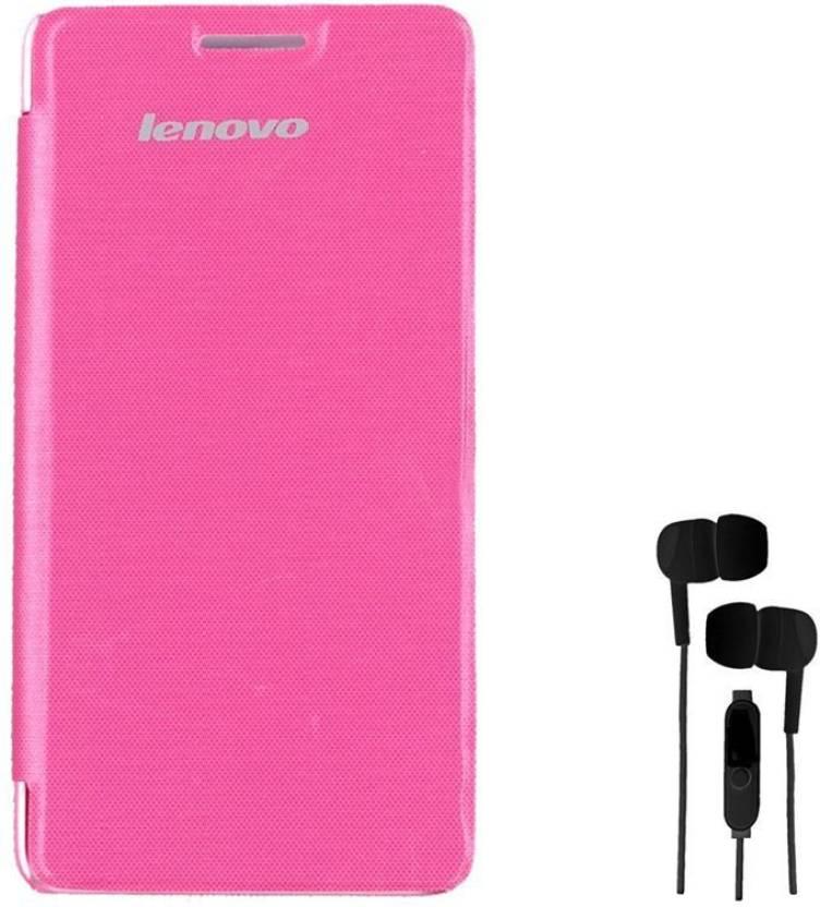 new style 71f6f e9046 Chevron Flip Cover Case with 3.5mm Stereo Earphones for Lenovo A6000 Plus  Accessory Combo