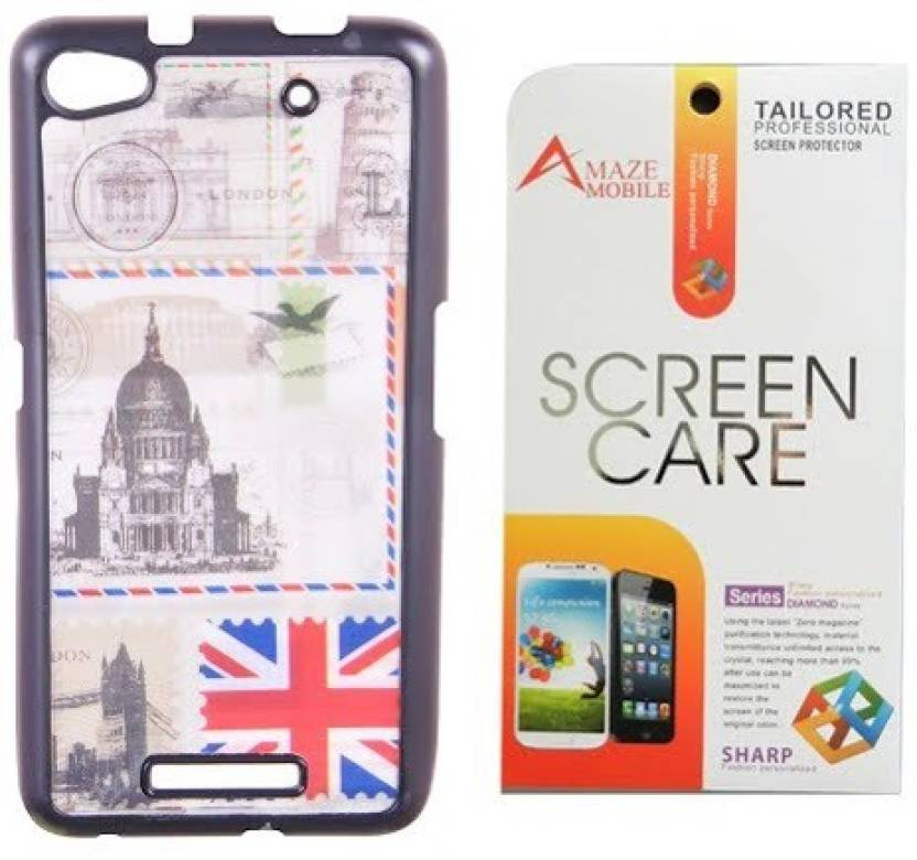 sports shoes a480f e4dd4 Amaze Mobile 3D Back Cover with Screen Guard for Micromax Canvas 4 ...