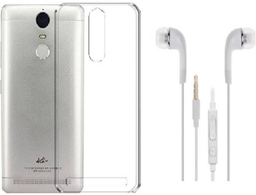 MAX CASE Cover Accessory Combo for XIAOMI REDMI NOTE 4 PRO (Transparent)