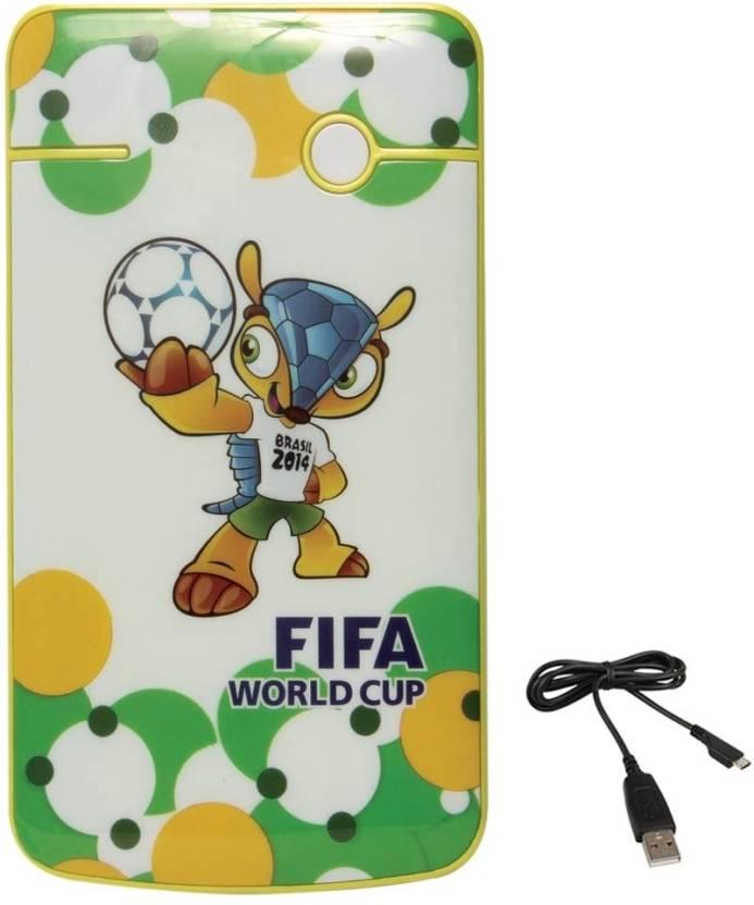 DMG FIFA World Cup 2014 4400mAh Universal Power Bank (White-Green