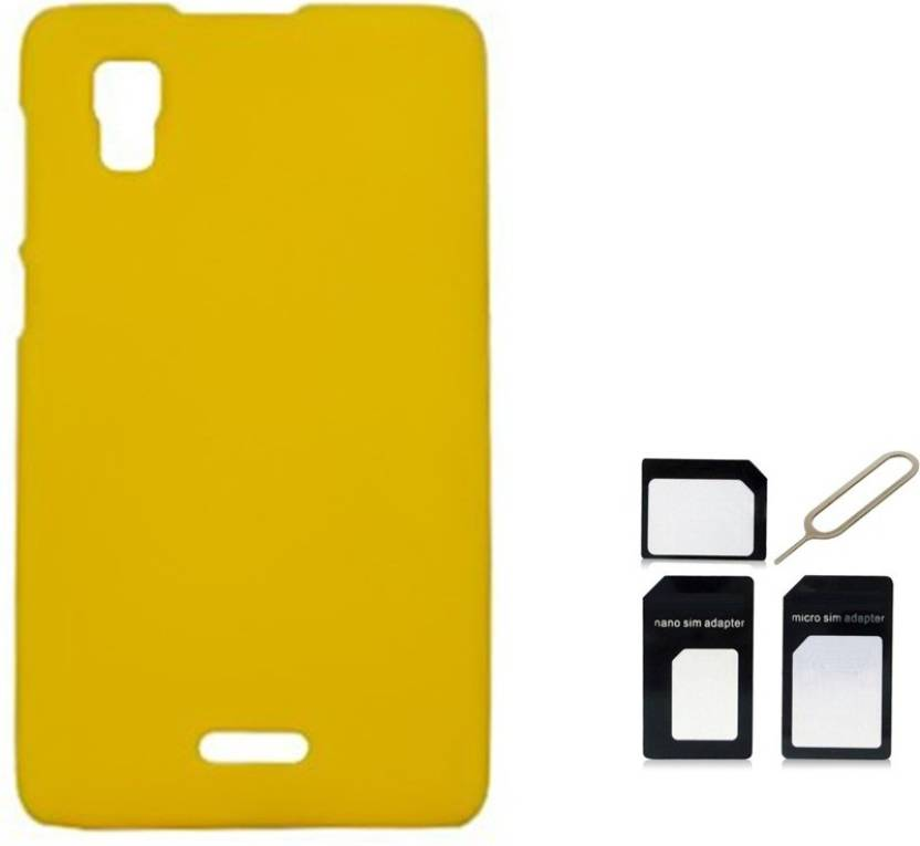 Tidel Back Cover With Micro Sim Adapter For Micromax Canvas