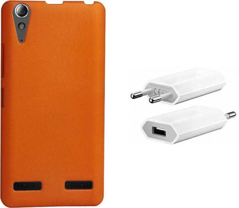 low priced 4d4b2 a3899 Kolor Edge Back Cover + USB Charger For Lenovo A6000 Plus Accessory ...
