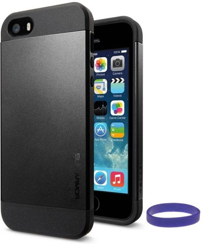 online retailer 39fed e1fd6 DMG Slim Armor Case for Apple iPhone 5/5S with Wristband Accessory Combo