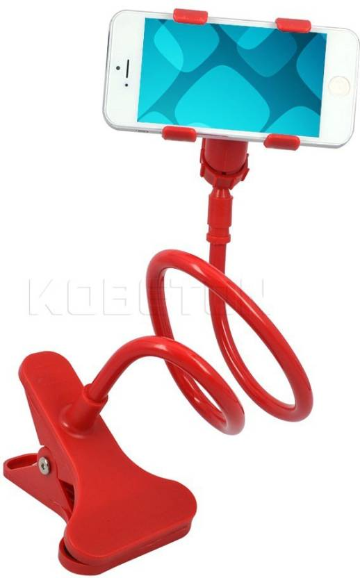 Burfa Universal Flexible 360 degree Snake Style Stand for Apple iPhone/Samsung/Android s Long Lazy Stand - Red Mobile Holder