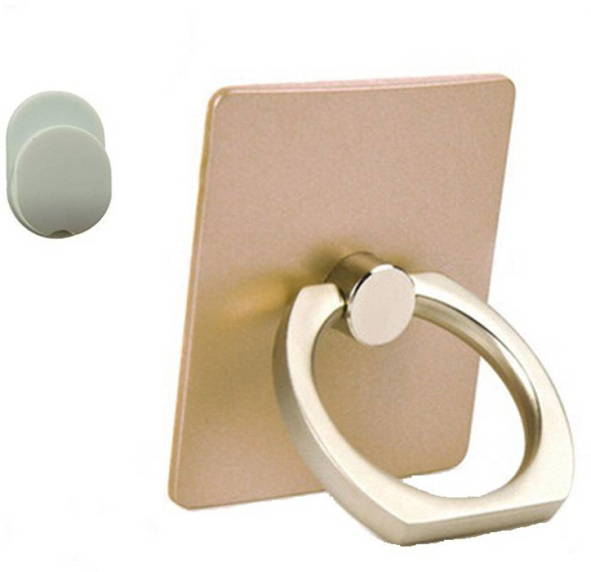 NHA Finger Grip Ring Stand with Hook - Gold Mobile Holder