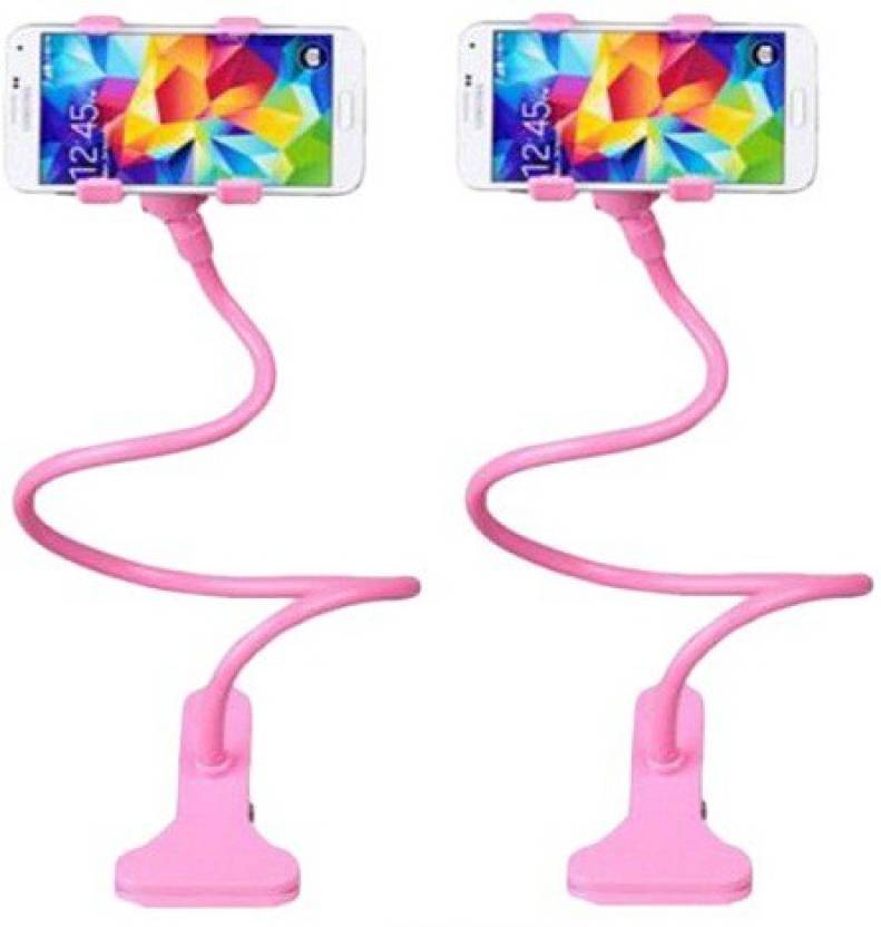 sangaitap Combo offer of 2 pes Lazy Mobile Holder Pink for car desk bed  Mobile Holder