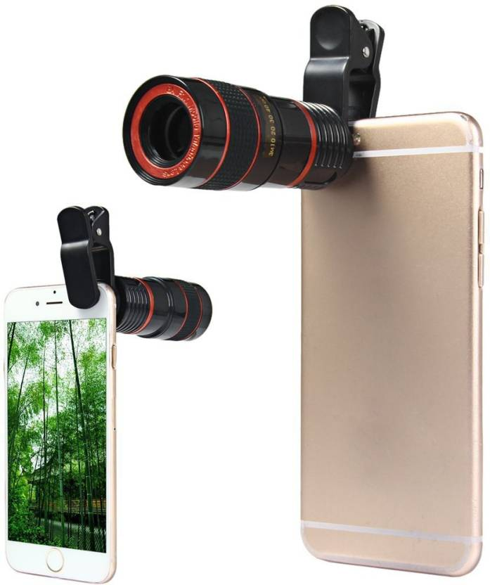 Life Like Universal 8X Zoom Telescope Camera + Adjustable Holder Mobile Phone Lens (Wide and Macro)