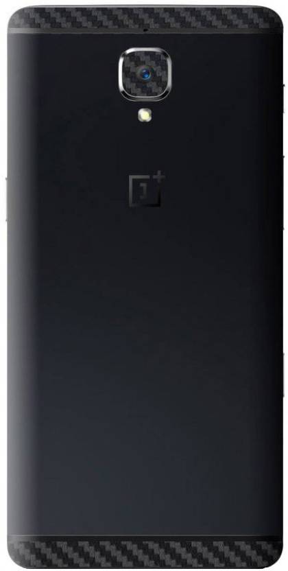 100% authentic 5950b ac1d9 GadGetsWrap G-096 Limited Edition Black Matte Black Carbon Skin for Back of  OnePlus 3, OnePlus 3T Mobile Skin