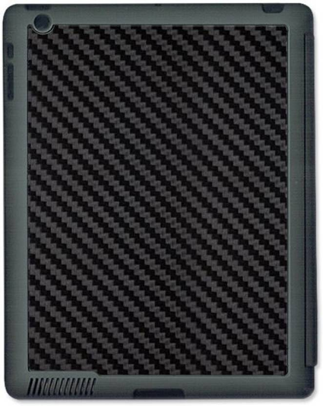 Skin4gadgets Black Carbon Fiber Texture Tablet Designer Gray Smart Case For Le Ipad 4
