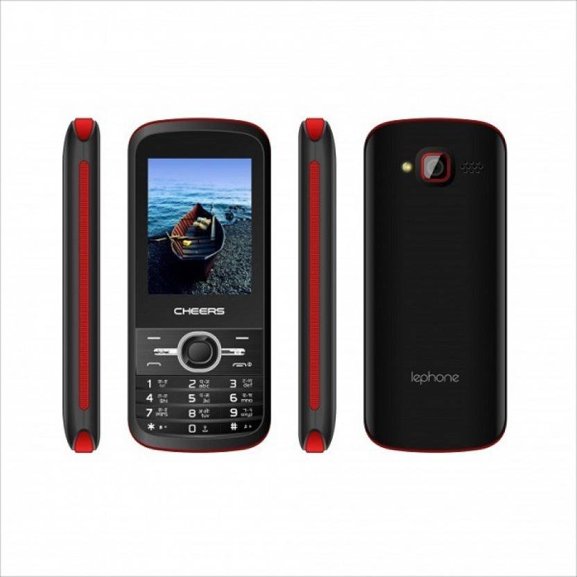 Cheers 4sim Sleek7 (Four Sim Mobile Phone) (Black+Red)