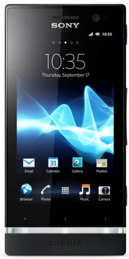 Sony Xperia U (Black and Pure White, 8 GB)