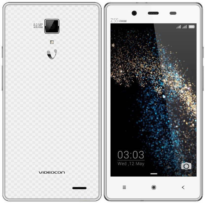 Videocon Octa Core Z55 Dash (White Silver, 8 GB)