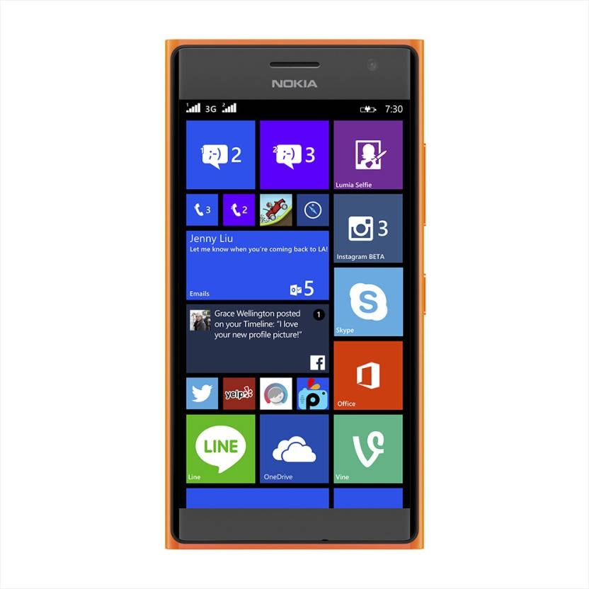 Nokia Lumia 730 (Bright Orange, 8 GB)