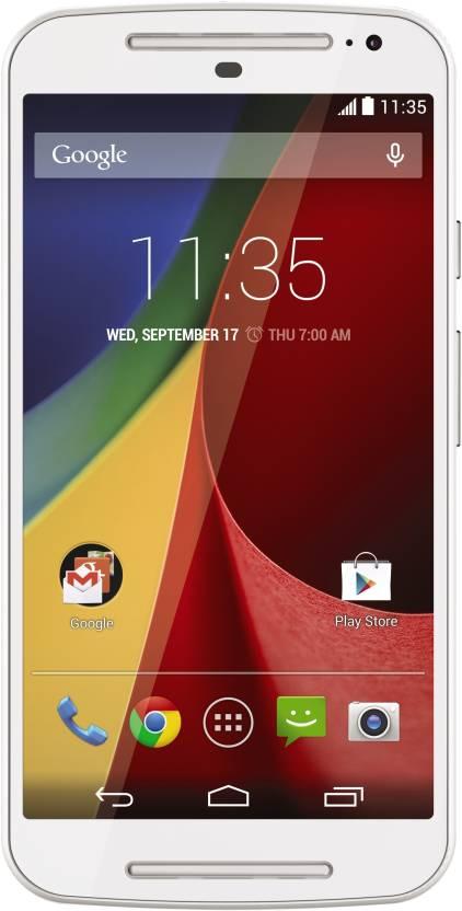 Moto G (2nd Gen) LTE (White, 16 GB)
