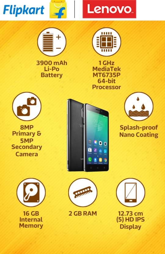 Lenovo VIBE P1m (Black, 16 GB)(2 GB RAM)