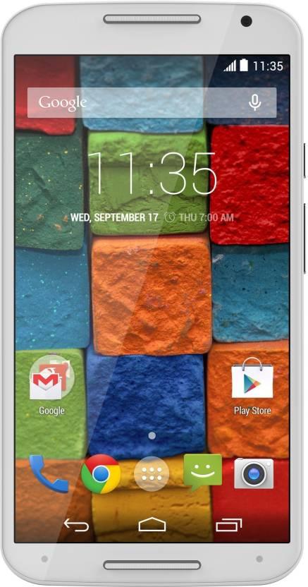 Moto X (2nd Generation) (White/Bamboo, 16 GB)