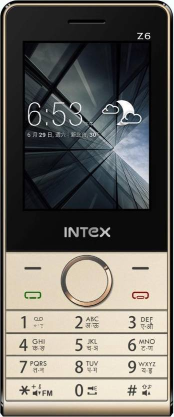 Intex Z6 (Silver, Black)