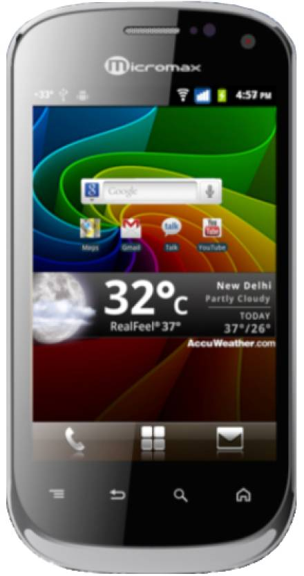 Micromax Superfone Lite A75 (Charcoal Black, 190 MB)