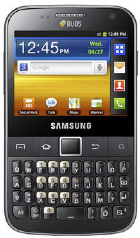 Samsung Galaxy Y Pro Duos (Metallic Black, 160 MB)