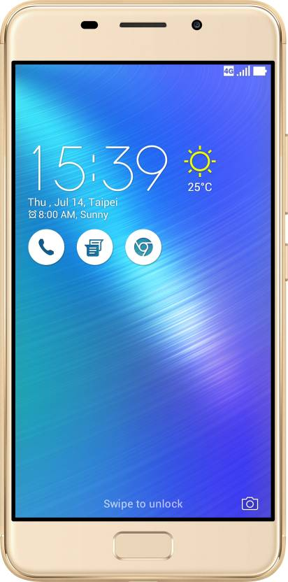 Asus Zenfone 3s Max Smart phone Gold, 32 GB Rs.14999 by Flipkart