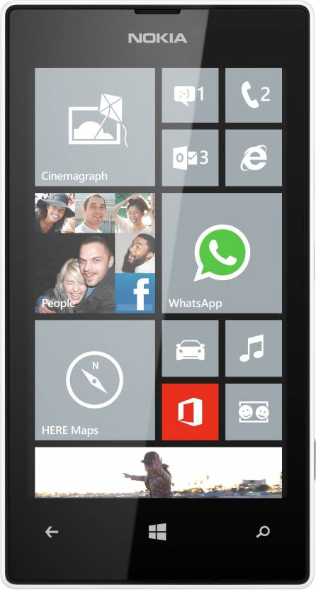Nokia Lumia 520 (White, 8 GB)