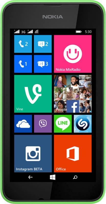 Nokia Lumia 530 Dual SIM (Bright Green, 4 GB)