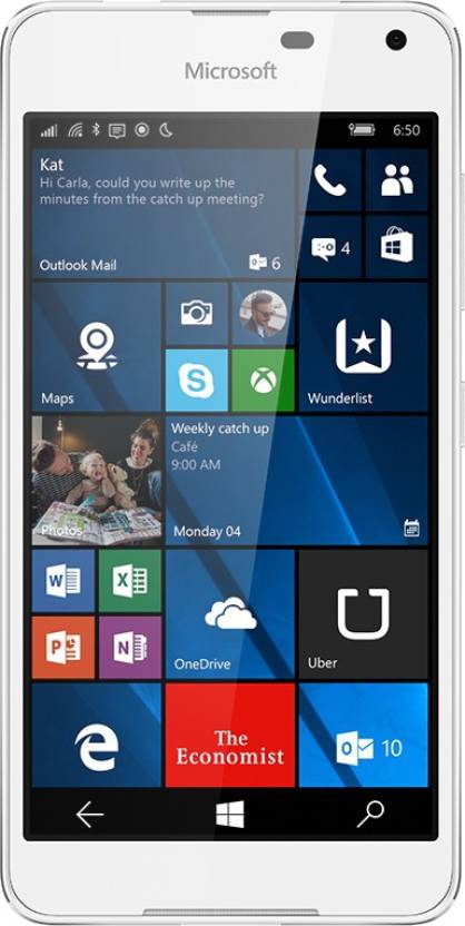 Microsoft Lumia 650 (White Light Silver, 16 GB)(1 GB RAM)