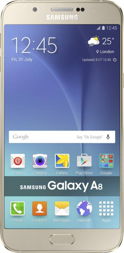 Samsung Galaxy A8 (Gold, 32 GB)