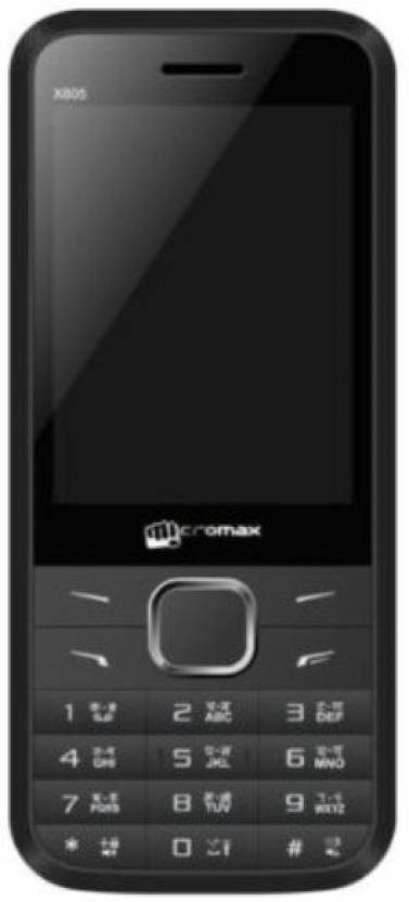 Micromax X805 With Charger And Earphone (Black)