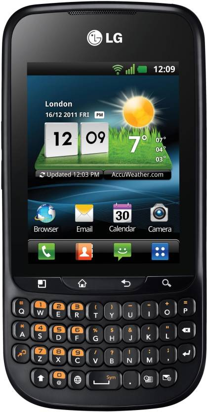 LG Optimus Pro C660 (Black, 150 MB)