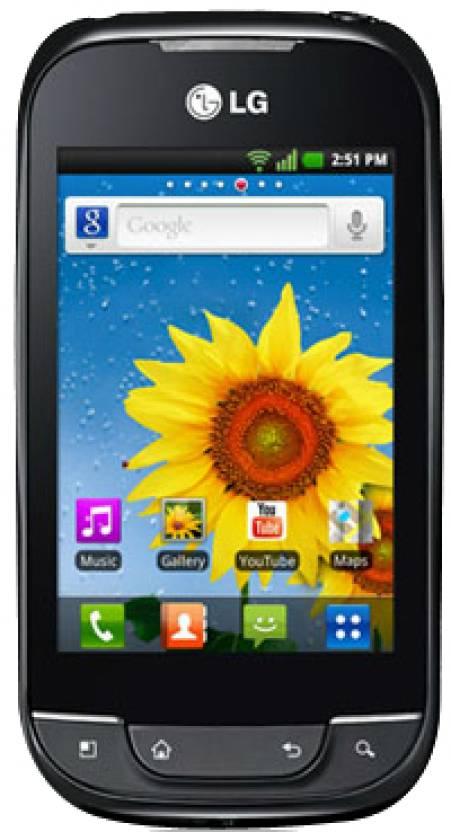 LG Optimus NET P690 (Black, 150 MB)