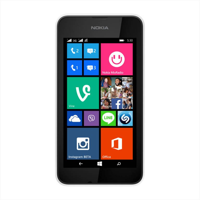 Nokia Lumia 530 Dual Sim (White, 4 GB)