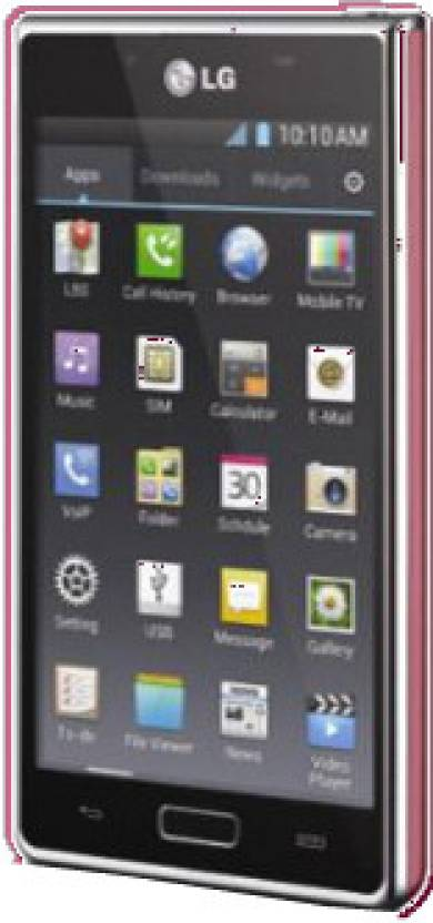 LG Optimus L7 (Pink and Black, 4 GB)