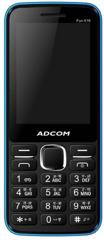 Adcom X16 (Fun) Dual Sim Mobile-Black & Blue