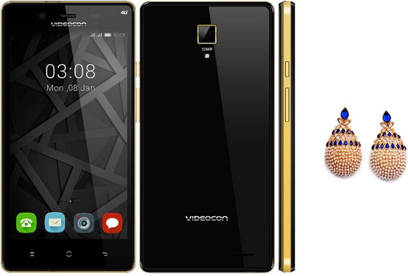 Videocon Krypton V50FG (Black and Gold, 16 GB)