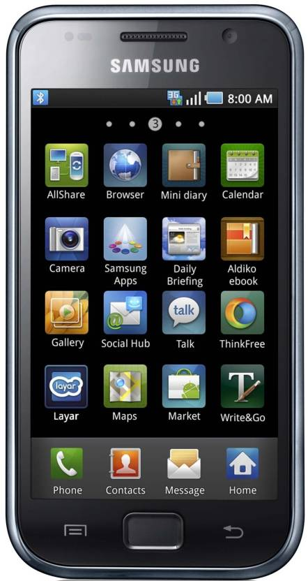 Samsung Galaxy S (Metallic Black, 16 GB)