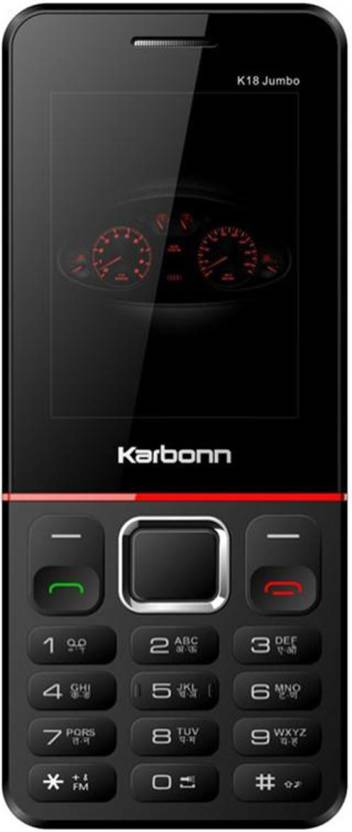 Karbonn K18 JUMBO (BLACK-RED)