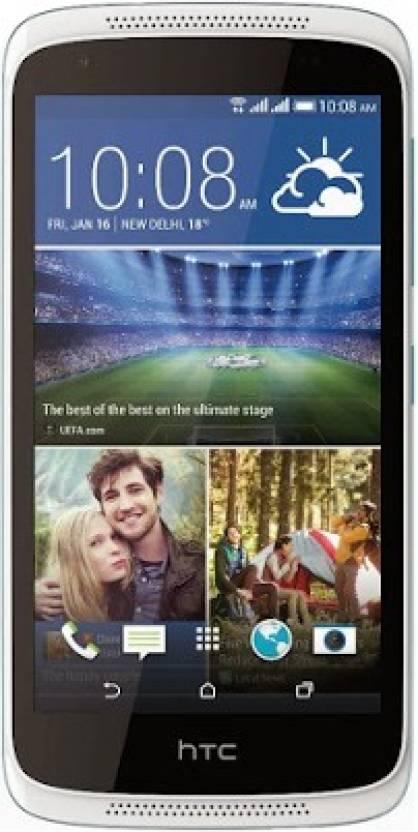 HTC 816G (Blue & Silver, 16 GB)