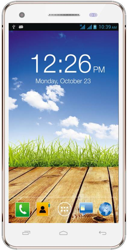 Micromax Canvas 4 Plus A315 (White and Gold, 16 GB)